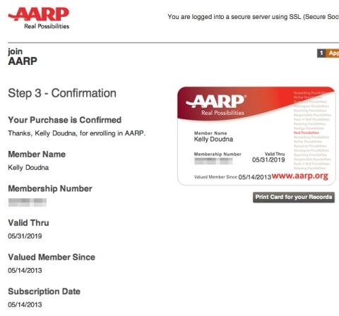 AARP enrollment