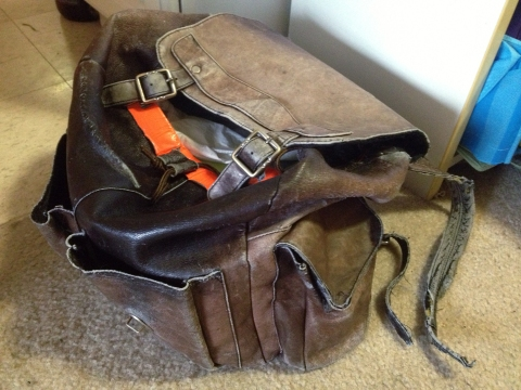 Photo of the old backpack.