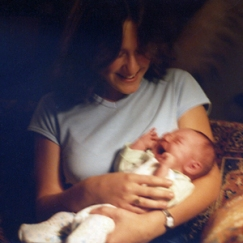 Me and cousin A, a week after her birth. One of the only times in my life that I've held a baby.